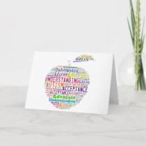 Autism Awareness Apple Design Products Card