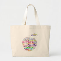 Autism Awareness Apple Design Products Large Tote Bag