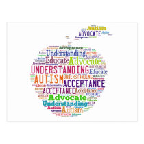 Autism Awareness Apple Design Products Postcard