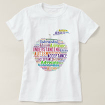 Autism Awareness Apple Design Products T-Shirt