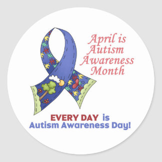 Autism Awareness April and Every Day Stickers