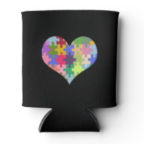Autism Awareness Autism Heart Autism Love Can Cooler