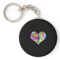 Autism Awareness Autism Heart Autism Love Keychain