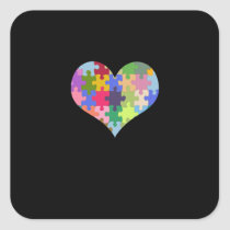 Autism Awareness Autism Heart Autism Love Square Sticker