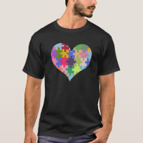 Autism Awareness Autism Heart Autism Love T-Shirt