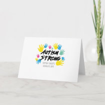 Autism Awareness Autism Strong Card