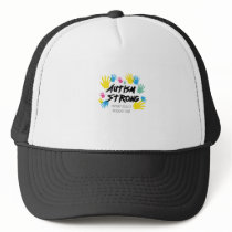 Autism Awareness Autism Strong Trucker Hat