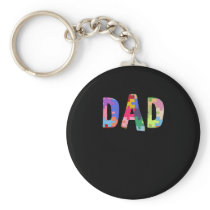 Autism Awareness Autism Support Dad Keychain