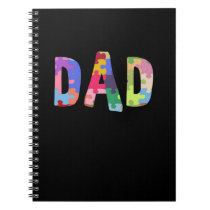 Autism Awareness Autism Support Dad Notebook