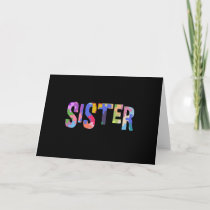 Autism Awareness Autism Support Sister Card