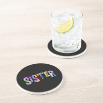 Autism Awareness Autism Support Sister Coaster