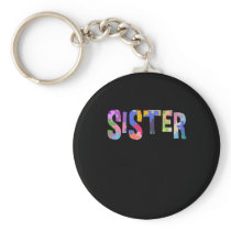 Autism Awareness Autism Support Sister Keychain