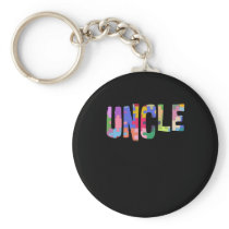 Autism Awareness Autism Support Uncle Keychain