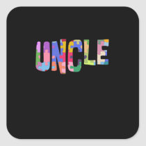 Autism Awareness Autism Support Uncle Square Sticker