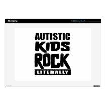 """Autism Awareness  Autistic Kids Rock Literally 15"""" Laptop Decal"""