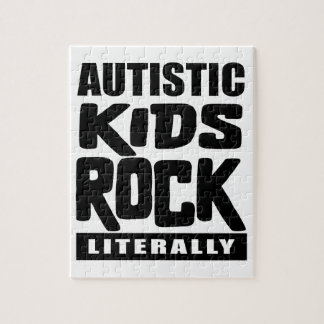 Autism Awareness  Autistic Kids Rock Literally Jigsaw Puzzle