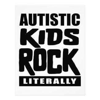 Autism Awareness  Autistic Kids Rock Literally Letterhead