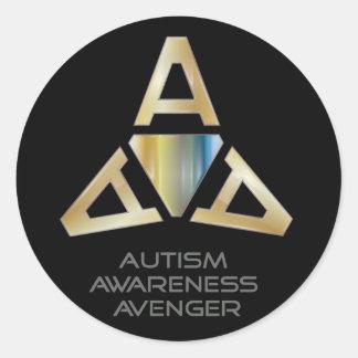 Autism Awareness Avenger Logo Stickers