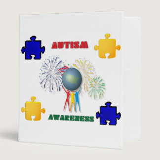 Autism Awareness Avery Binder