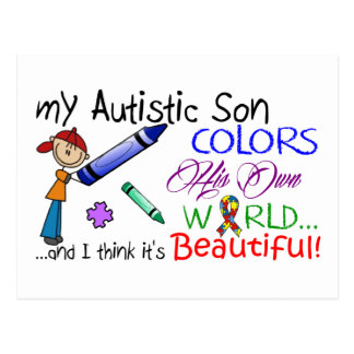 Autism Awareness - Awesome Son Postcard