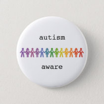 Autism Awareness Badge Pinback Button