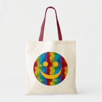 tote, bags, monkeys, baby, shopping, bag, purse, gift, autism, awareness, Bag with custom graphic design