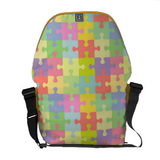 Autism Awareness Bag Multicolor Puzzle