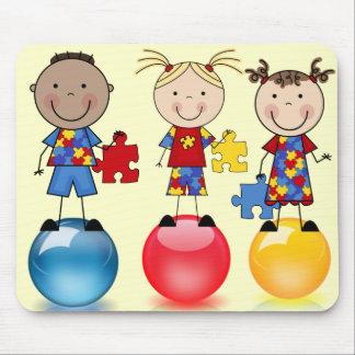 Autism Awareness balls Mousepad