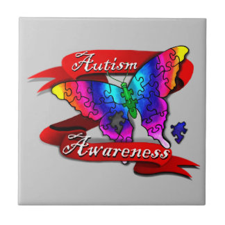 Autism Awareness Banner Ceramic Tile