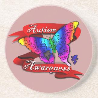 Autism Awareness Banner Drink Coasters