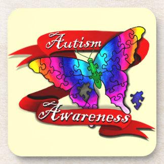Autism Awareness Banner Beverage Coasters