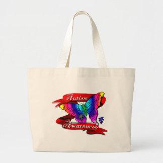 Autism Awareness Banner Large Tote Bag