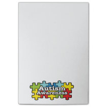 Autism Awareness Banner Post-it Notes