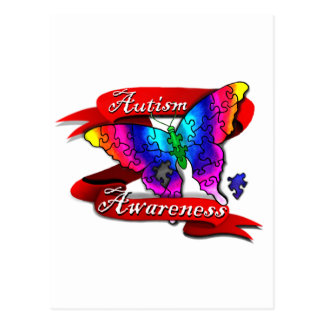 Autism Awareness Banner Postcard