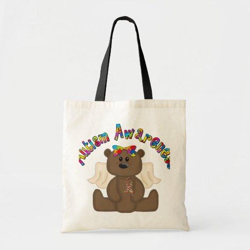 Autism Awareness Bear Budget Tote Bag