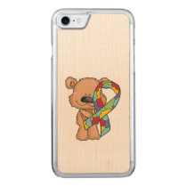 Autism Awareness Bear Carved iPhone 7 Case