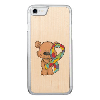 Autism Awareness Bear Carved iPhone 8/7 Case