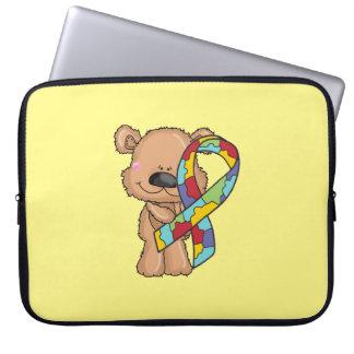 Autism Awareness Bear Laptop Sleeve