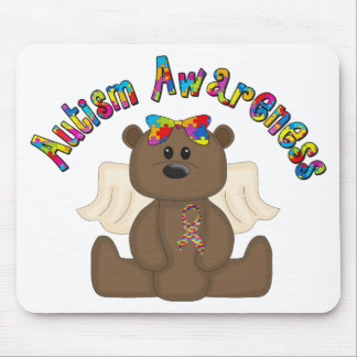 Autism Awareness Bear Mouse Pad