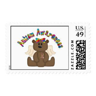 Autism Awareness Bear Postage