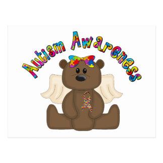Autism Awareness Bear Postcard