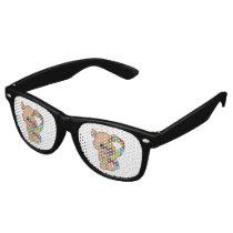 Autism Awareness Bear Retro Sunglasses