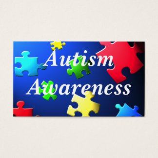 Autism Awareness Behavior Information Card