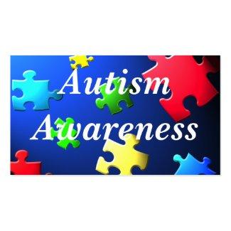 Autism Awareness Behavior Information Card profilecard