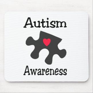 Autism Awareness Black Puzzle Piece Mouse Pad