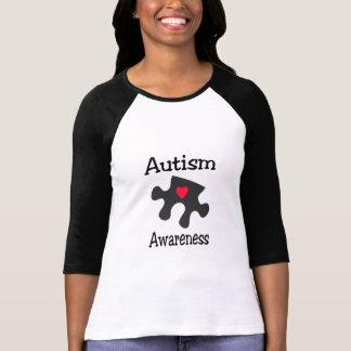 Autism Awareness (Blk Rd Hrt) Tee Shirt