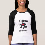 Autism Awareness (Blk Rd Hrt) Tshirts