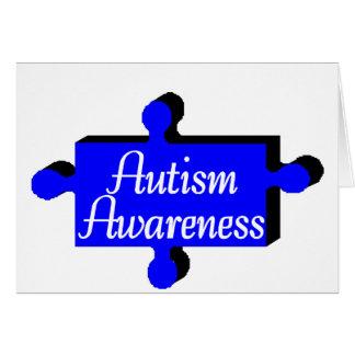 Autism Awareness (Blue P Piece) Card
