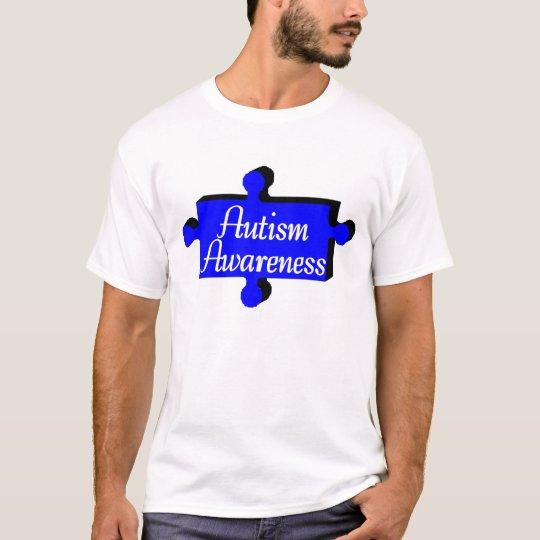Autism Awareness Blue Puzzle Piece T-Shirt