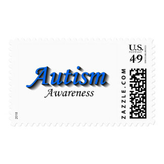 Autism Awareness (BlueBlk) Postage